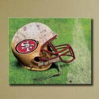 San Francisco 49ers Canvas Wall Art Grunge by SportsCorner ...