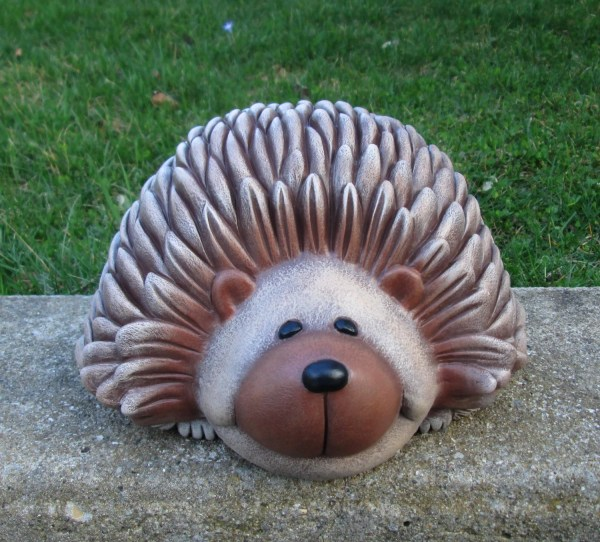 Hedgehog Yard Art Garden Lawn Ornament Ceramic