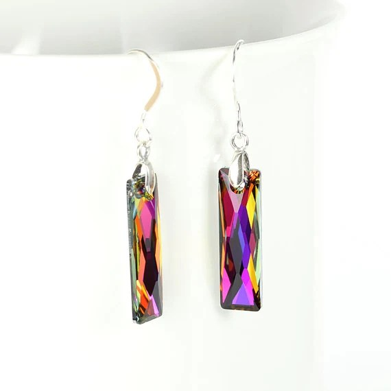 Volcano crystal earrings