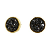 Druzy Stud Earrings in black drusy