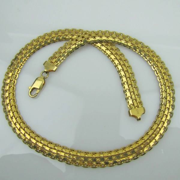 Italian Gold Panther Collar Necklace. 18k Plated 925