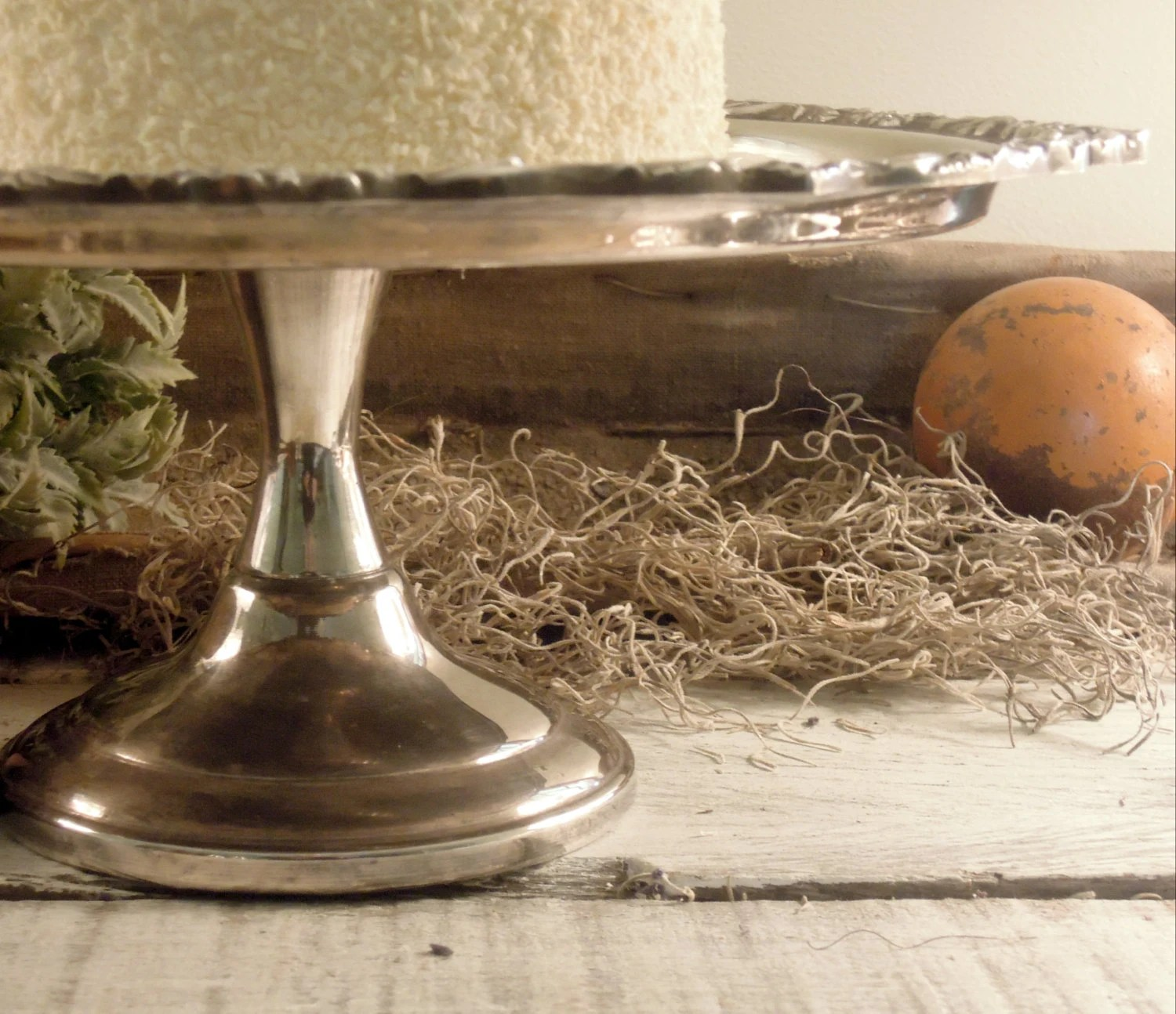Vintage Cake Stand Cake Plate Silver Plate By