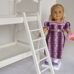 American Girl Doll High Chair Acrylic With Cushion Furniture 6 Rung Ladder For Bunk Bed