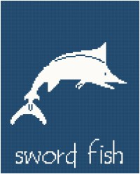 Sword Fish Wall Art Cross Stitch Pattern from SherrysHouse ...