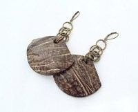 SALE Coconut Jewelry Coconut Dangle Earrings by ...