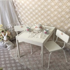 White Toddler Table And Chairs Outdoor Kids Chair Shabby Chic Set Activity
