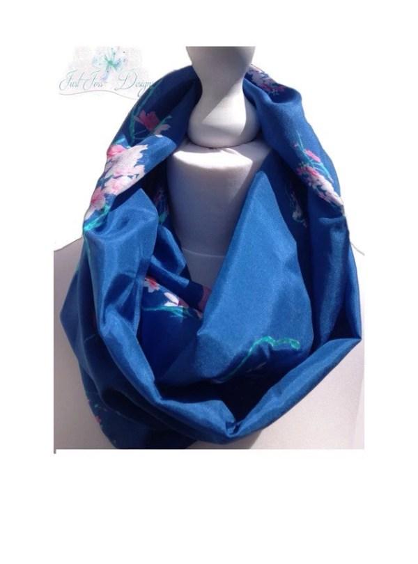 Silk Infinity Scarf royal blue infinity scarf by JustJoss