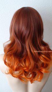 auburn pastel orange tri-color