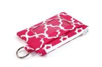 Pink Quatrefoil ID Wallet / Keychain ID Wallet / ID Holder