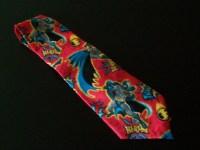 Novelty Men's Necktie with Batman print/ Mens tie/ Batman