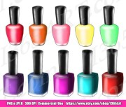 nail polish clipart set makeup