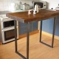 Rustic breakfast bar table kitchen island by redcottagefurniture