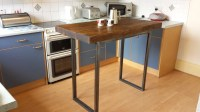 Rustic breakfast bar table / kitchen island by ...
