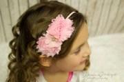 pink baby headband hair bows