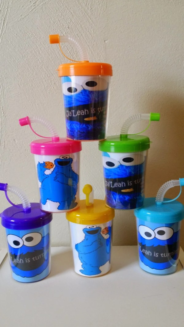 Cookie Monster Personalized Party Favor Cups