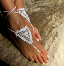 Crochet Barefoot Sandals Foot Jewelry Wedding