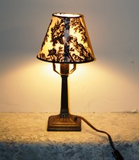 Vintage Small Night Light Table Lamp with Black and White