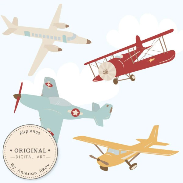 professional airplane clipart &