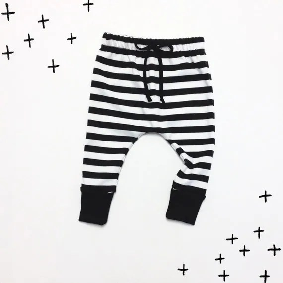 On Sale: Baby Toddler Girl Boy Stripe Skinny Harem // Drop