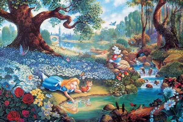 Thomas Kinkade Disney Alice in Wonderland
