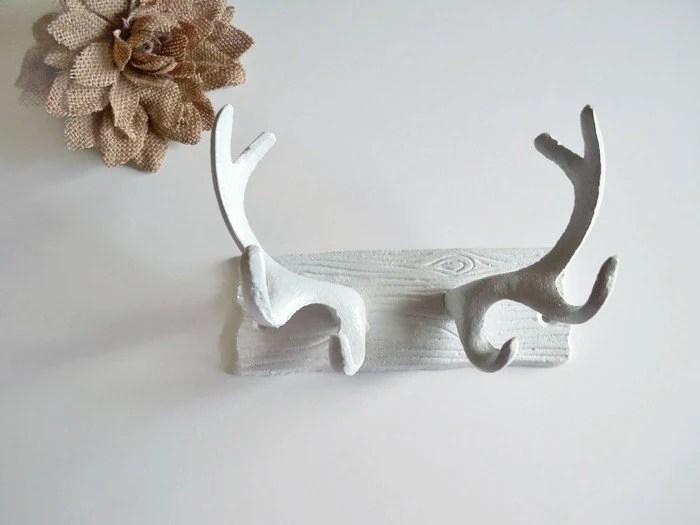 Faux Antler Wall Decor Cast Iron Faux Antlers Deer Antler