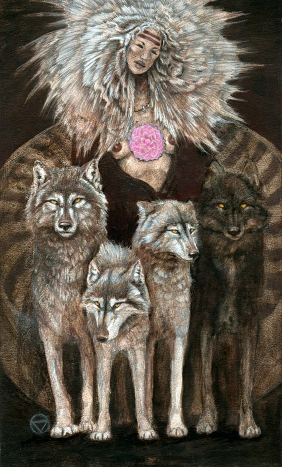 cool wolves aeclectic tarot