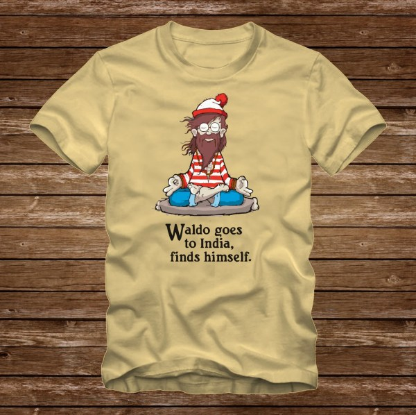Waldo India Finds Funny T-shirt Adult Sizes