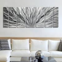 SALE Large Multi Panel Metal Wall Art in All Silver