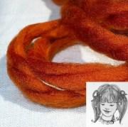 spice fluffy yarn hair ribbons