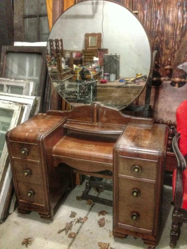 Customize Vintage Vanity Desk Painted Furniture. Chalk