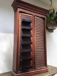 Antique Wood General Store Display cabinet! Primitive