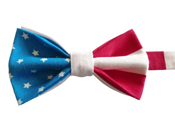 Retro American Flag Bow Tie Independence Day 4th Of