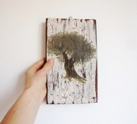 Olive Tree Wall Decor Wooden Wall Art Woodland by WoodlandHut