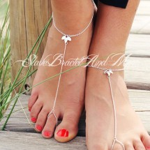 Sweet Barefoot Sandals Anklet Foot Jewelry Silver Chain