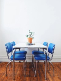 Mid-Century Kitchen Chair Set / Vintage Blue Chairs by ...