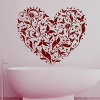 Tree Wall Decals Heart Art Branch Decal Love Vinyl by ...