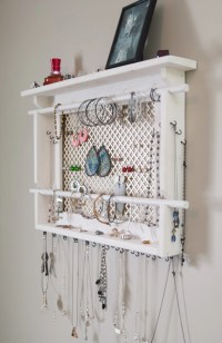 JEWELRY ORGANIZER LARGE Wall Mounted Jewelry by MrandMissis