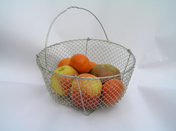 Vintage Egg Wire Basket Collapsible