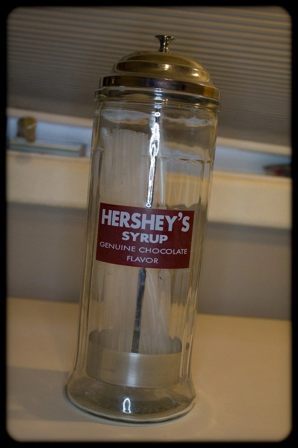 Hersheys Syrup Straw Holder Dispenser