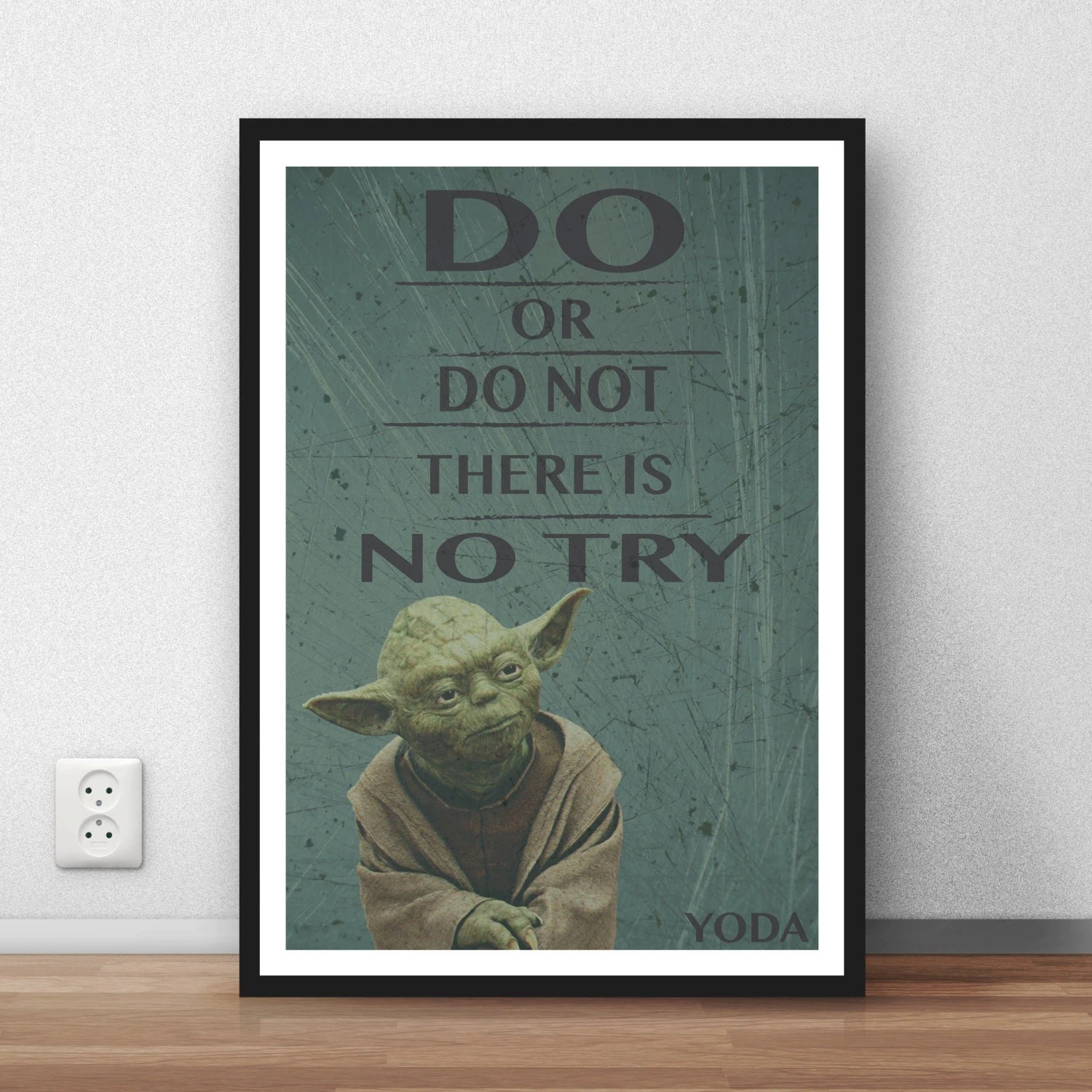 Yoda Quote Do Or Do Not There Is No Try Wall Art