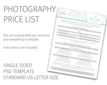 Popular items for price list template on Etsy