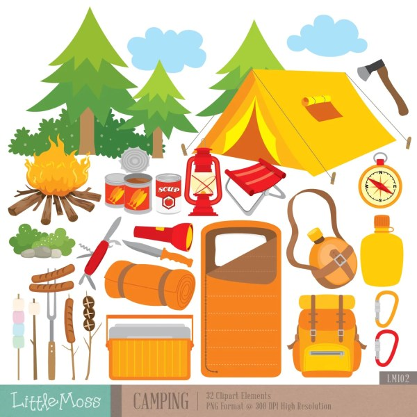 camping digital clipart outdoor
