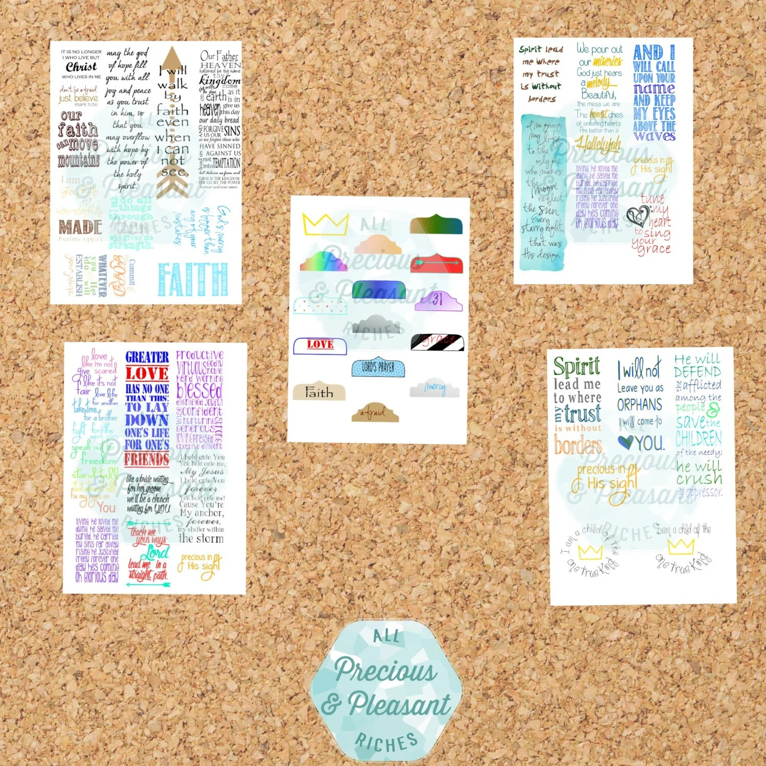Bible Journaling Printables With Tabs By Preciouspleasant On Etsy