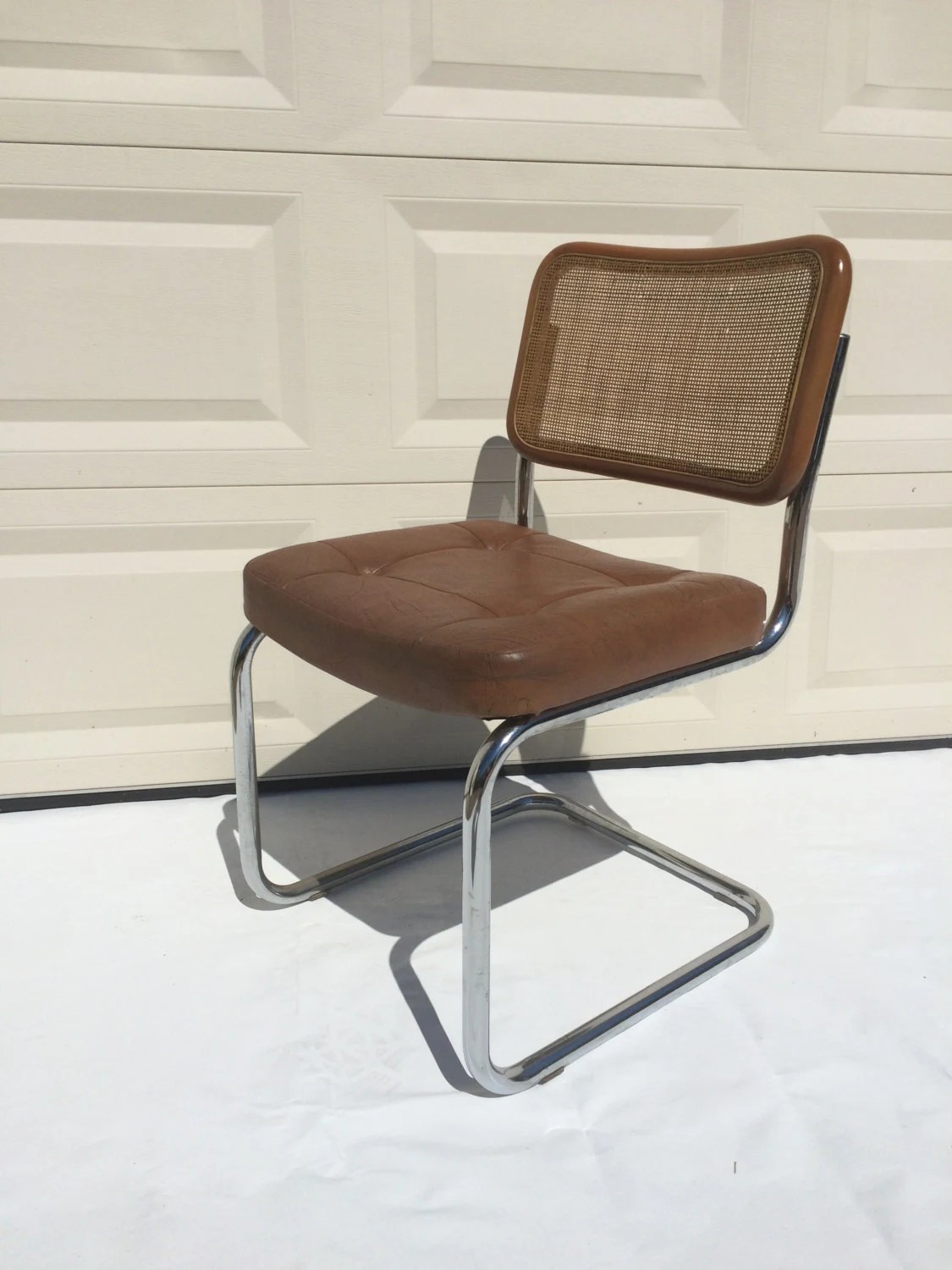 chromcraft chairs vintage replacement wood chair seats mid century marcel breuer style cantilever