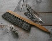 antique horse hair brush vintage