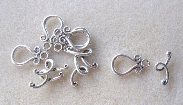 Designer Toggle Clasps Necklace Closure Findings Ring And Bar