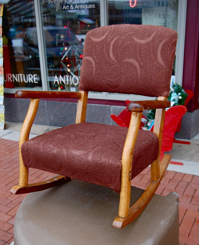 kids upholstered rocking chair desk at walmart vintage childs great