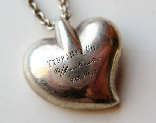 Vintage Elsa Peretti Tiffany & Small Heart Necklace Pendant