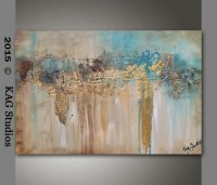 Abstract gold foil Painting