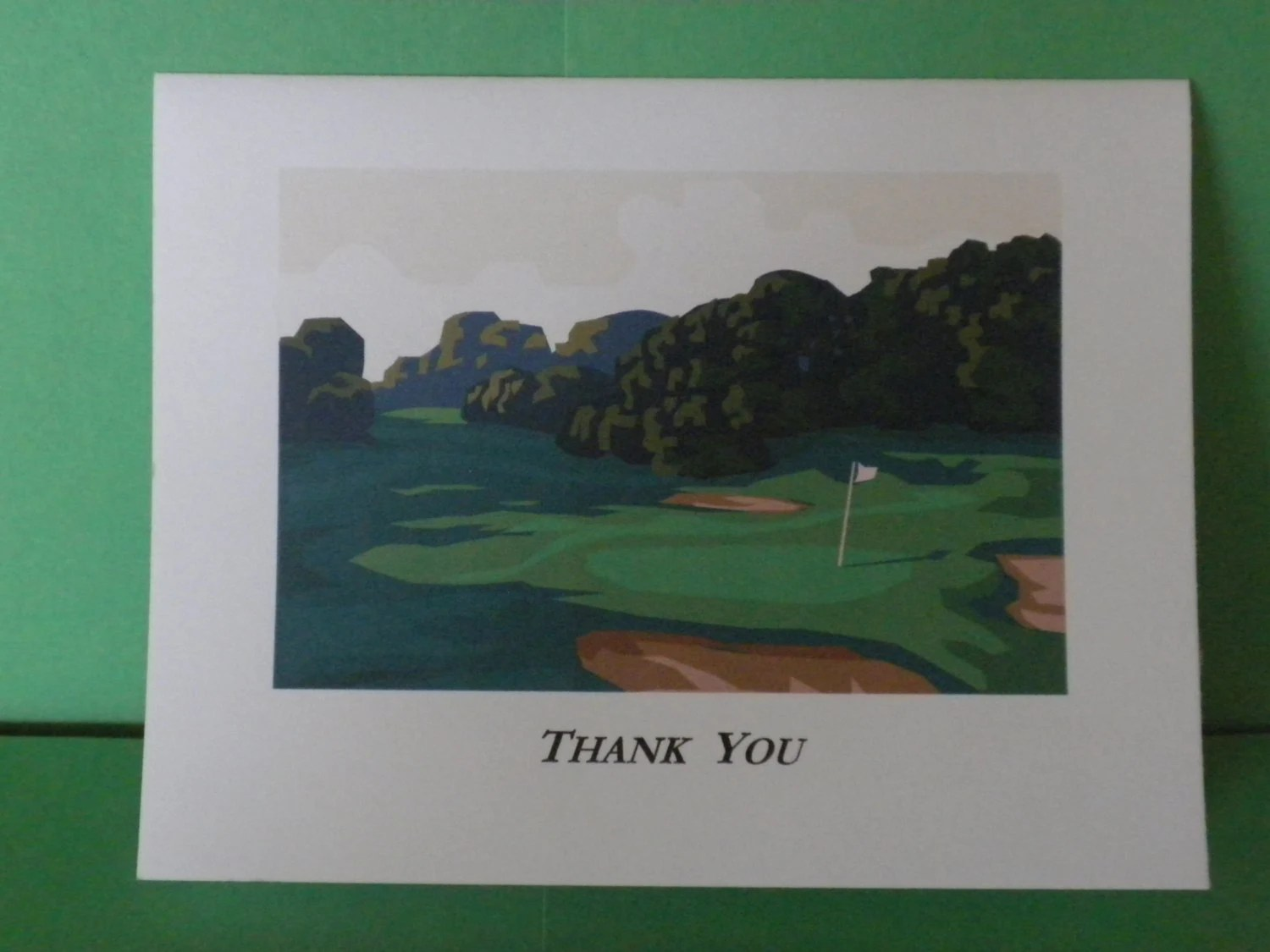 Golf Theme Thank You Note Cards By JKSJKSDesign On Etsy